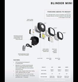 KNOG LIGHT SET KNOG BLINDER MINI NINER TWINPACK 20 LUMENS FRONT 11 LUMENS BACK BLACK