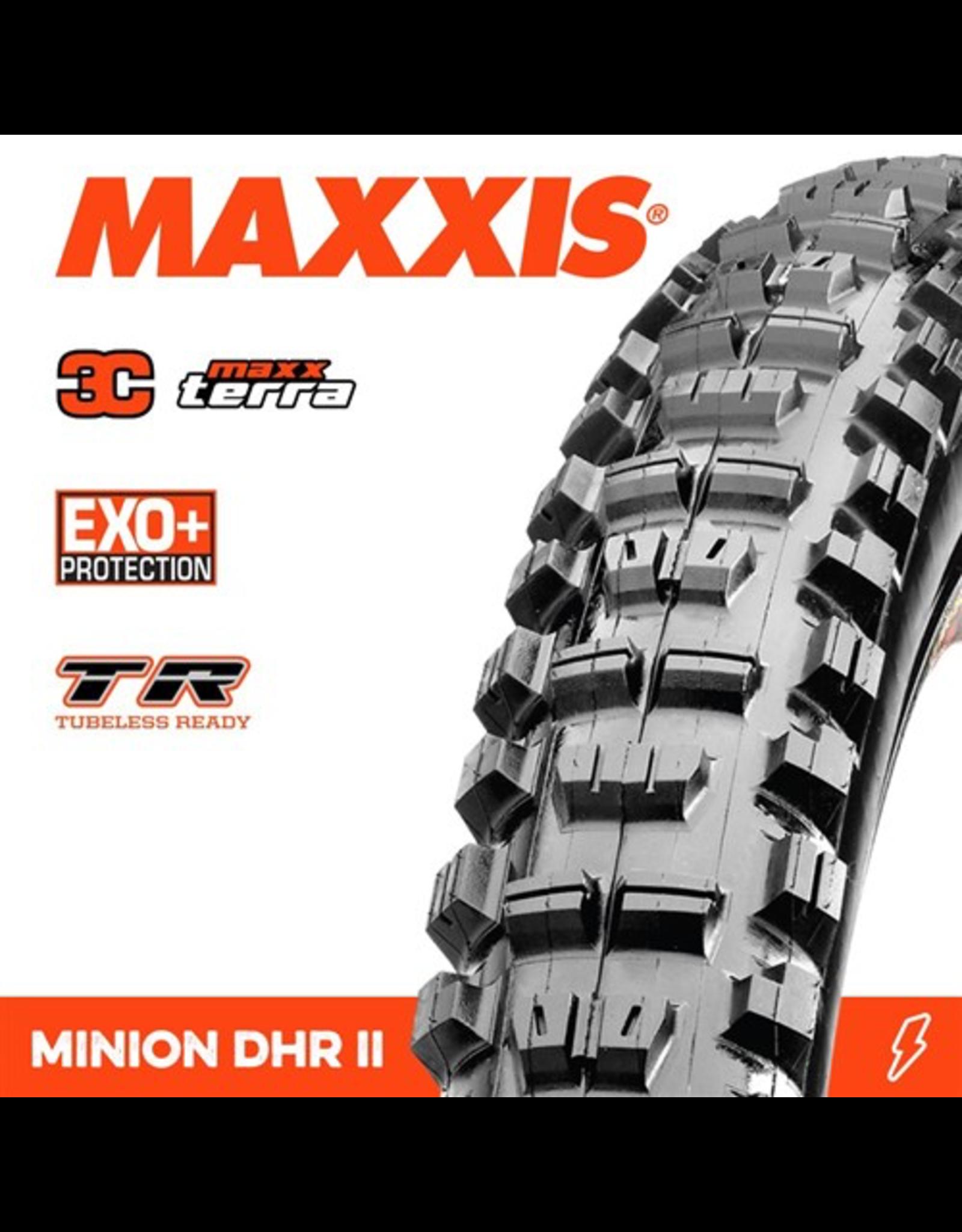 """MAXXIS MAXXIS MINION DHR II 27.5 X 2.40"""" TR EXO+ 3C MAXX TERRA FOLD 120 TPI TYRE"""