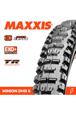 """MAXXIS MAXXIS MINION DHR II 27.5 X 2.60"""" TR 3C MAXX TERRA EXO+ FOLD 120 TPI TYRE"""