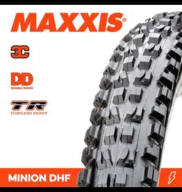 """MAXXIS MAXXIS MINION DHF 27.5 X 2.50"""" WT TR DD 3C MAXX GRIP FOLD 120X2TPI TYRE"""