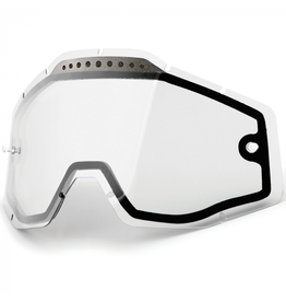 100% 100% RACECRAFT/ACCURI GOGGLES CLEAR VENTED DUAL REPLACEMENT LENS