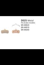 Shimano BRAKE PADS DISC SHIMANO BR-M810 D02S METAL SAINT/ZEE (BR-M640, M810 & M820)