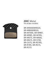 Shimano BRAKE PADS DISC SHIMANO BR-M9000 J04C METAL ICE TECH XT/SLX