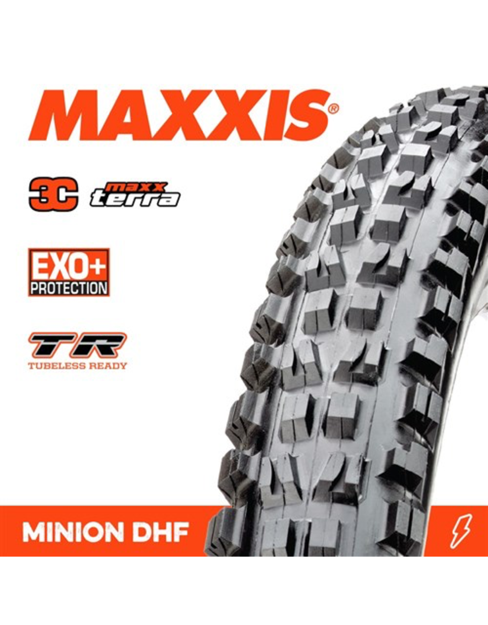 """MAXXIS MAXXIS MINION DHF 27.5 X 2.50"""" WT TR EXO+ 3C MAXX TERRA FOLD 120TPI TYRE"""