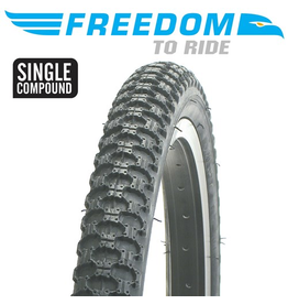 "FREEDOM TYRE FREEDOM MX3 20 X 2.125"" BLACK"