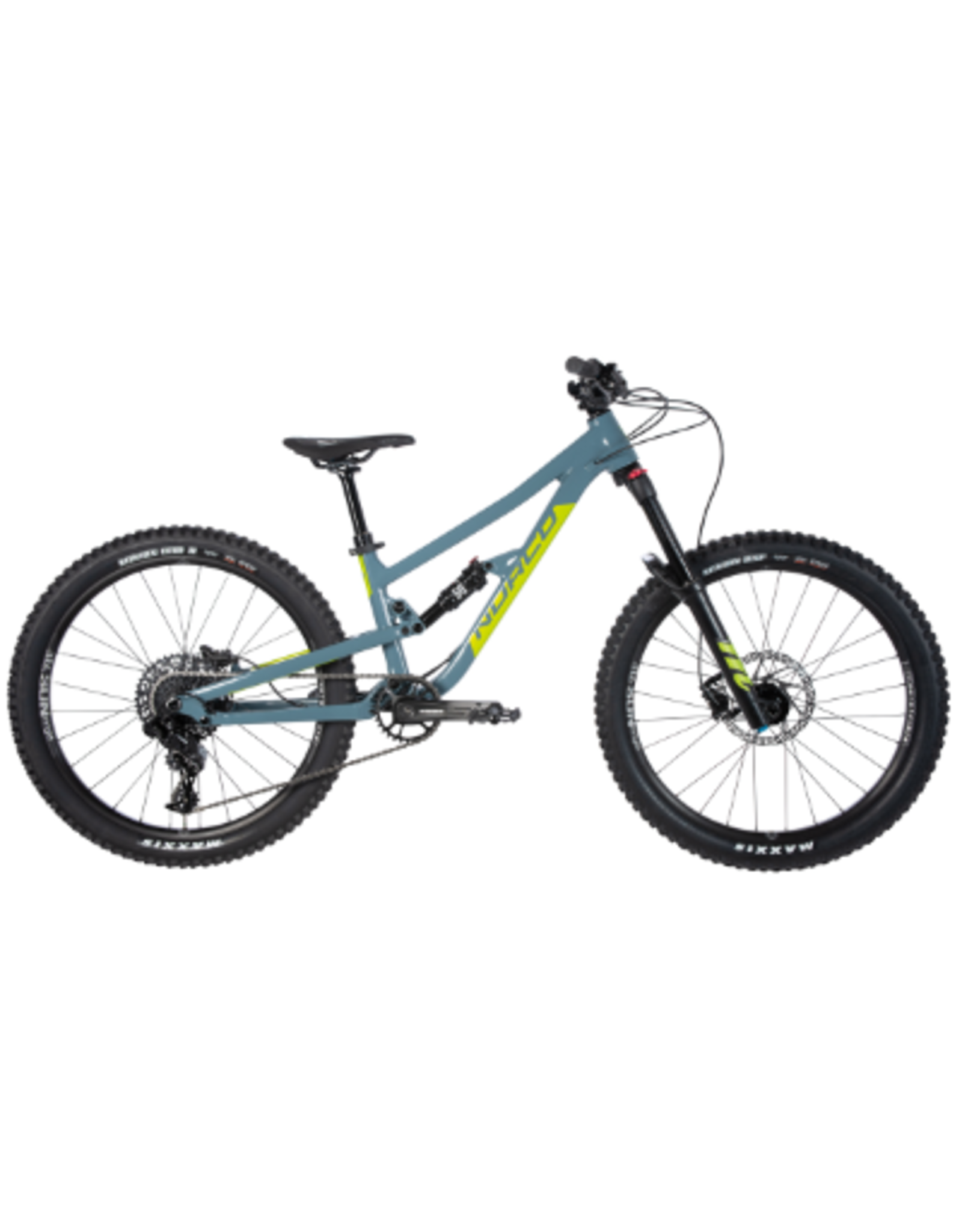 """NORCO NORCO YOUTH 24"""" FLUID 4.1 FS SLATE BLUE/SLIME GREEN"""