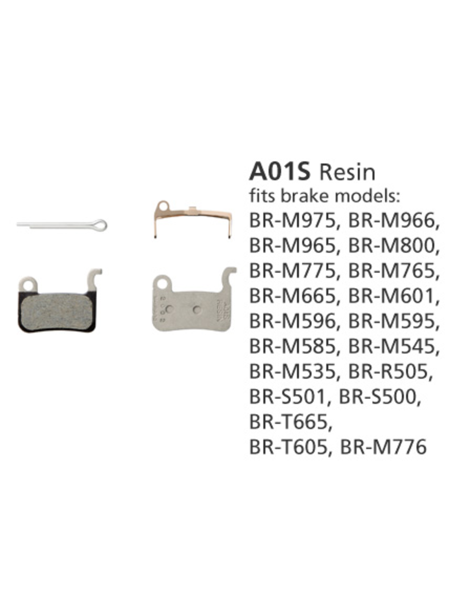 Shimano SHIMANO BR-M775 A01S RESIN DISC BRAKE PADS XT, XTR, HONE & SAINT