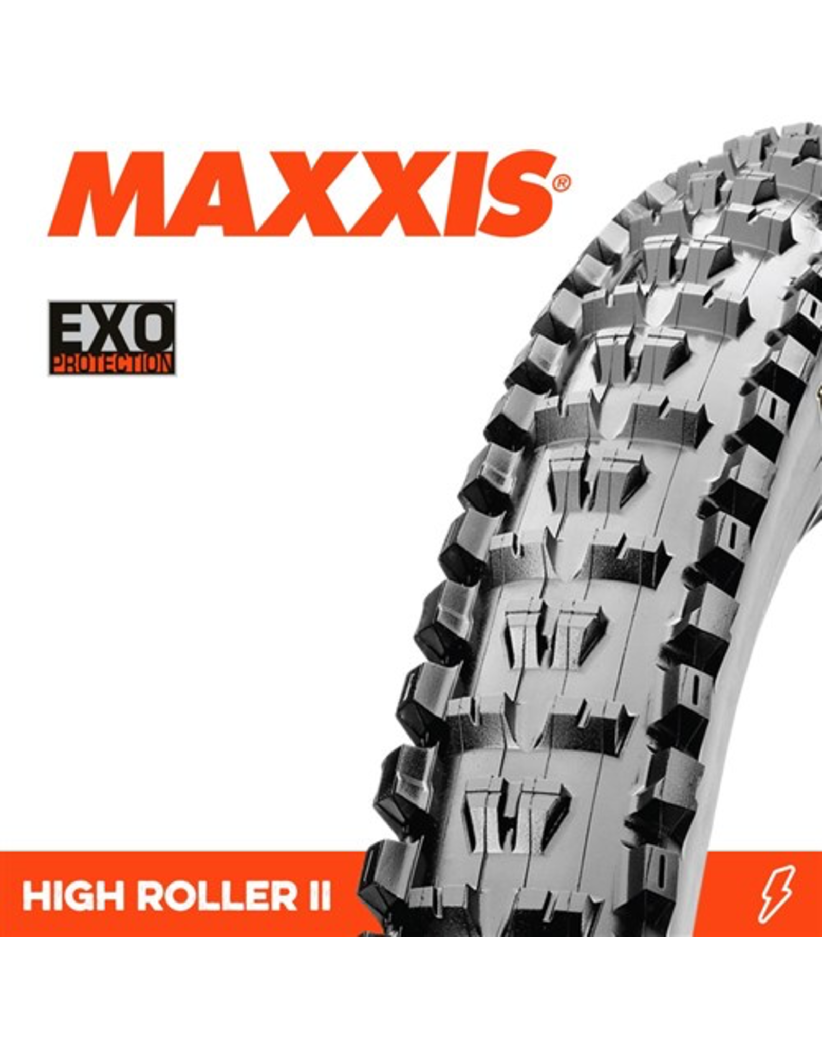 """MAXXIS HIGH ROLLER 2 26 X 2.40"""" EXO FOLD 60TPI TYRE"""