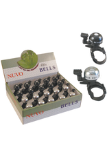 BIKECORP NUVO ALLOY UNI FIT BELL BLACK OR SILVER (EACH)