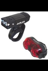 AZUR LIGHT SET AZUR 65/30 65 LUMEN HEAD LIGHT 30 LUMEN TAIL LIGHT USB RECHARGEABLE