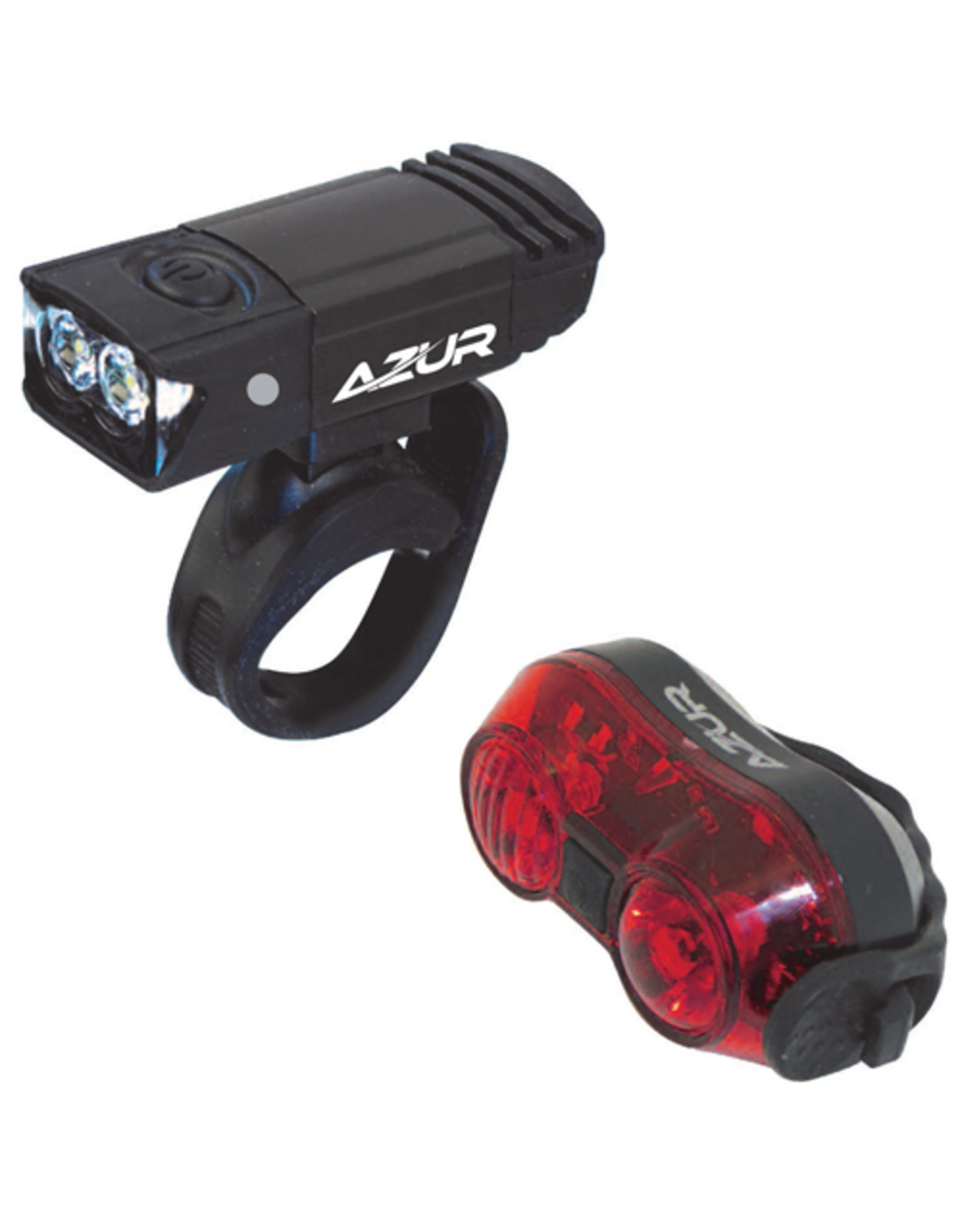 AZUR AZUR 65/30 LIGHT SET 65 LUMEN HEAD LIGHT 30 LUMEN TAIL LIGHT USB RECHARGEABLE