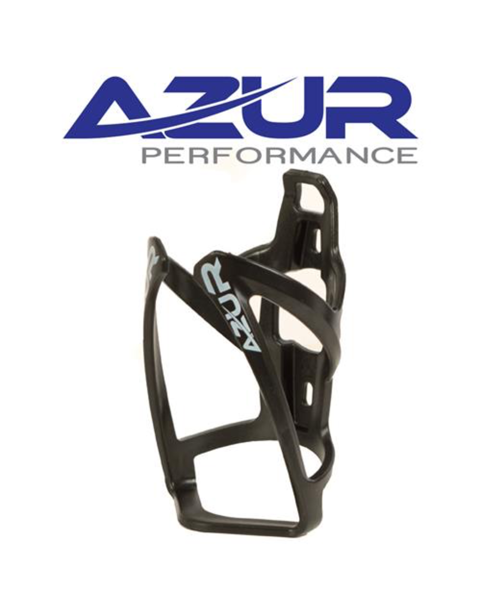 AZUR AZUR PLASTIC BOTTLE CAGE BLACK