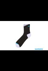 Shimano SHIMANO LONG ANKLE BLACK/WHITE LARGE SOCKS