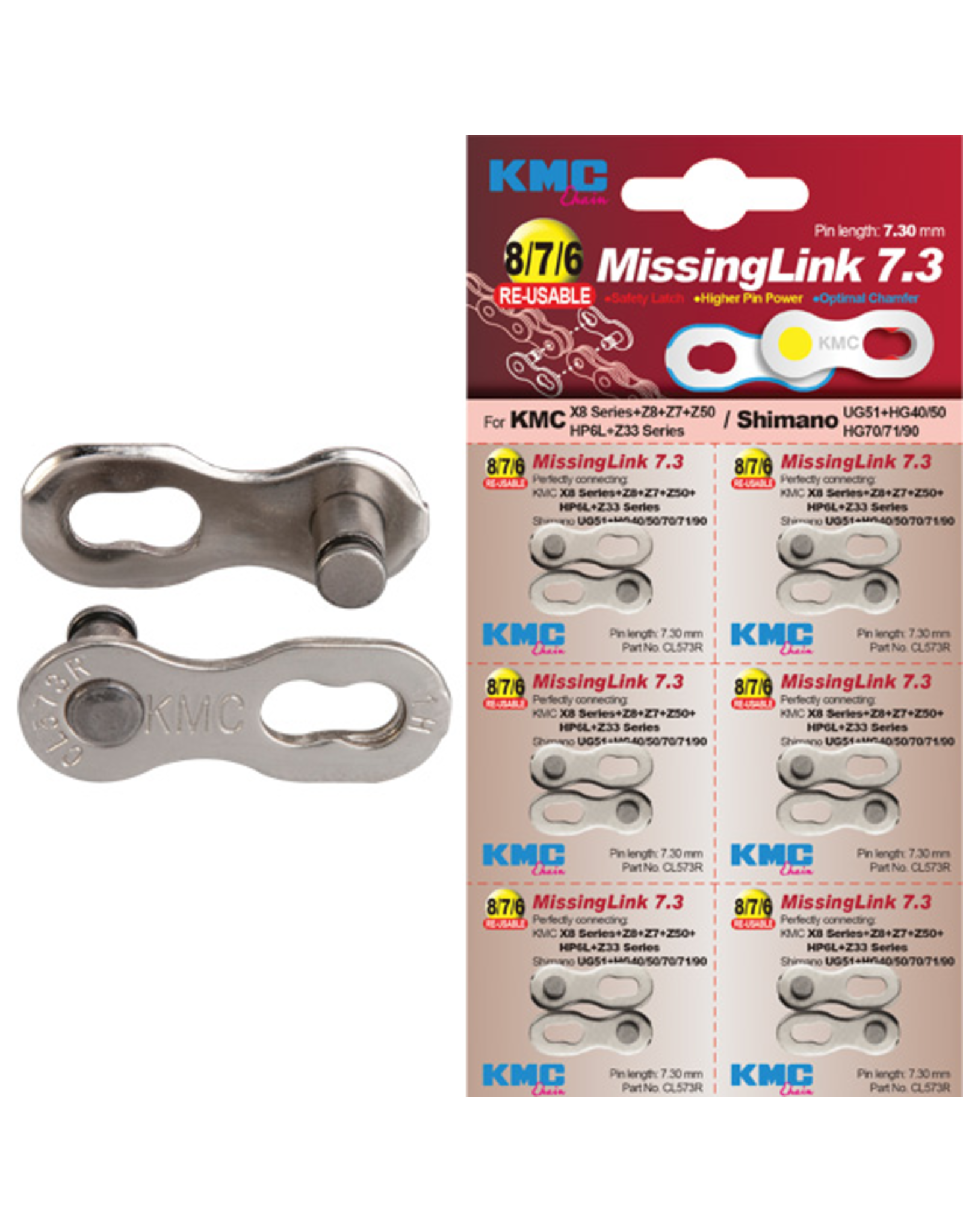 KMC CHAIN LINK KMC MISSING LINK 6/7/8 SPEED SILVER