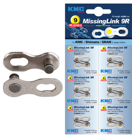 KMC KMC CHAIN MISSING LINK 9 SPEED SILVER
