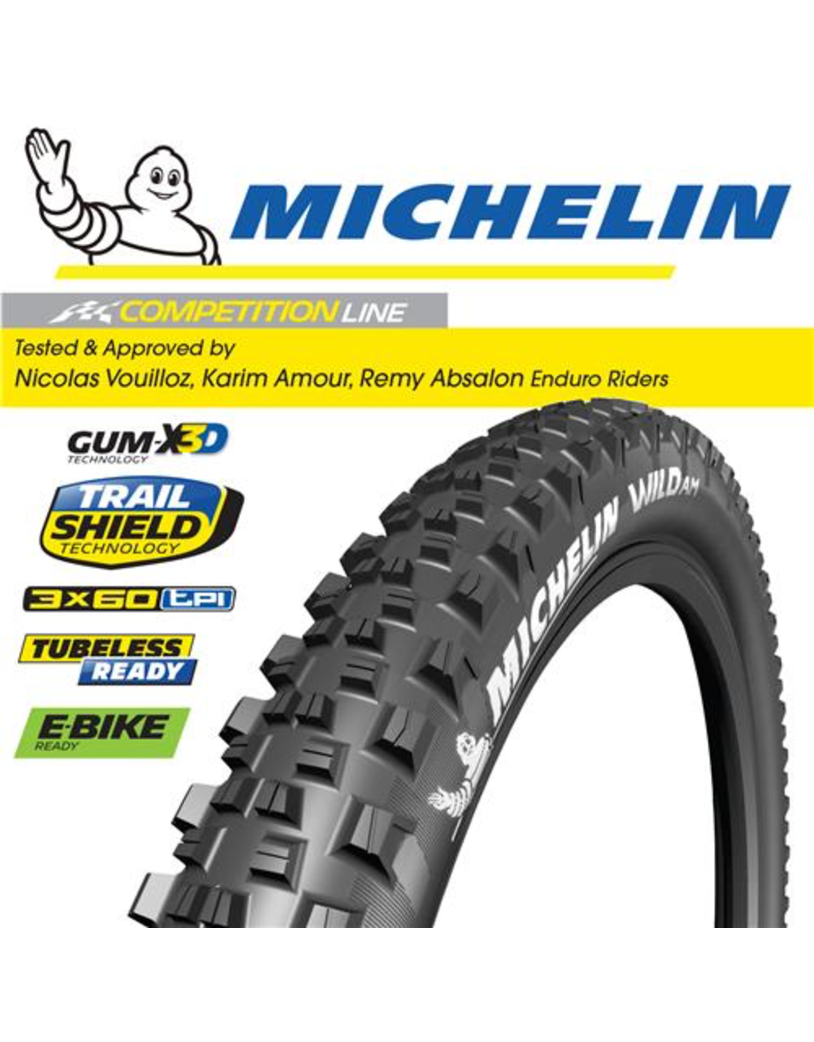 MICHELIN TYRE MICHELIN WILD AM COMPETITION GUM-XD3 27.5x2.80""