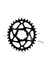 ABSOLUTE BLACK ABSOLUTE BLACK OVAL SHIMANO XT M8000 34T BLACK CHAINRING