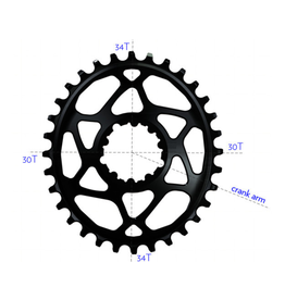 ABSOLUTE BLACK CHAINRING ABSOLUTE BLACK OVAL SHIMANO XT M8000 34T BLACK