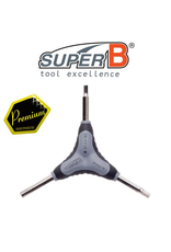 SUPER-B TOOL SUPER-B PREMIUM Y-WRENCH GRIP HEX KEY SET 4/5/6mm