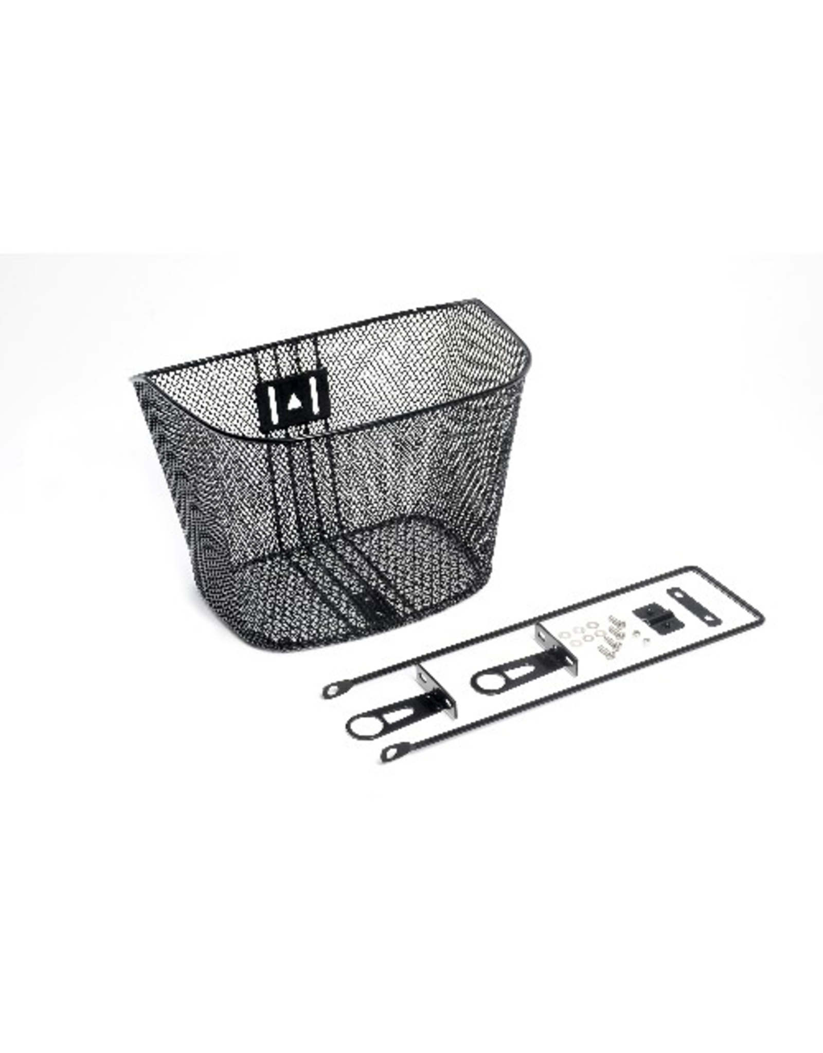 BIKECORP BASKET WIRE MESH FRONT WITH FORK STAY BLACK