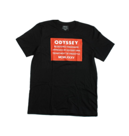Odyssey T-SHIRT ODYSSEY RED LABEL BLACK LARGE