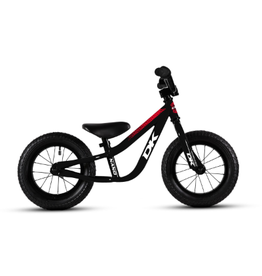 DK BMX DK BICYCLES NANO BALANCE BIKE BLACK WITH RED GRAPHICS