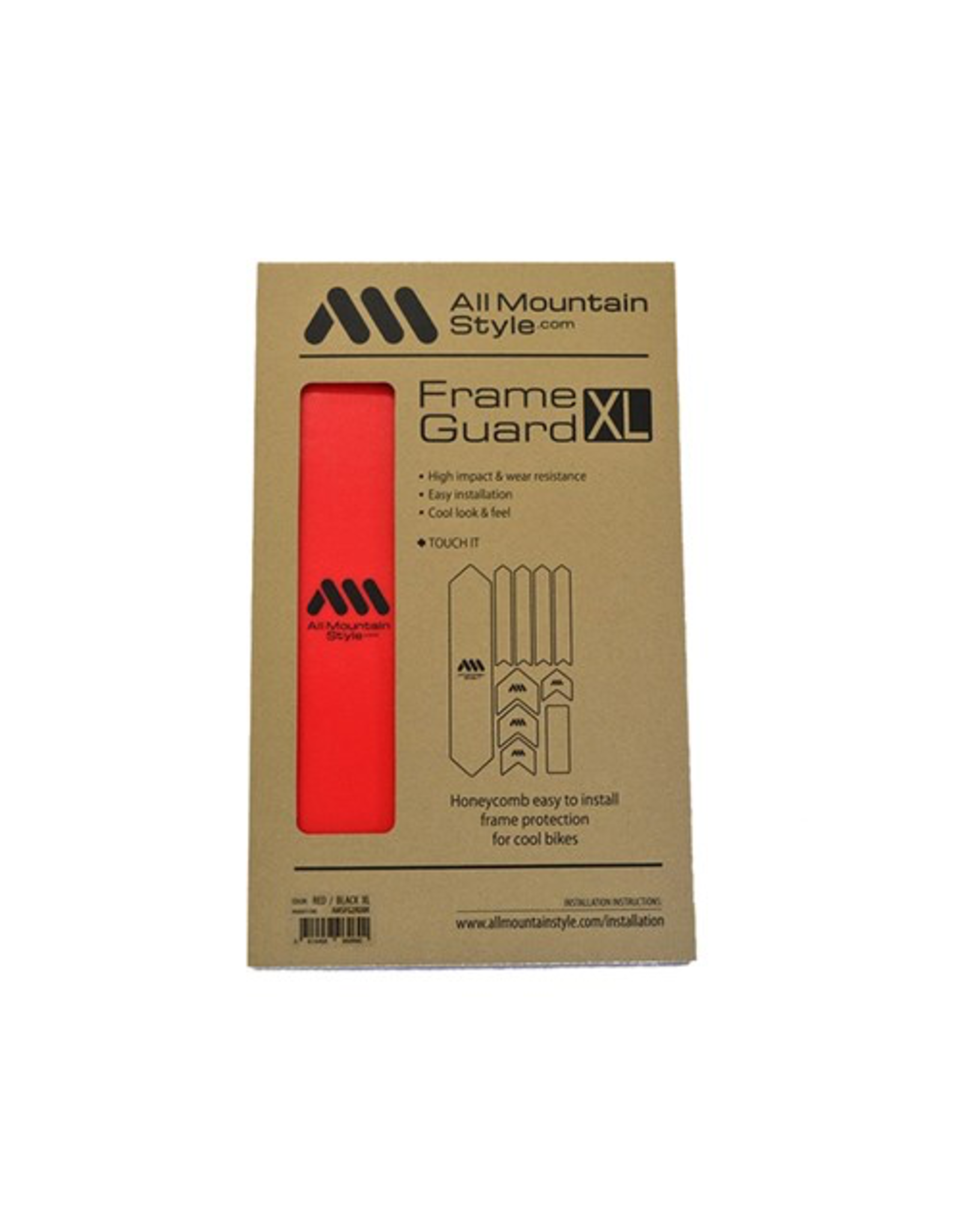 ALL MOUNTAIN STYLE FRAME PROTECTION ALL MOUNTAIN STYLE (AMS) FRAME GUARD XL RED