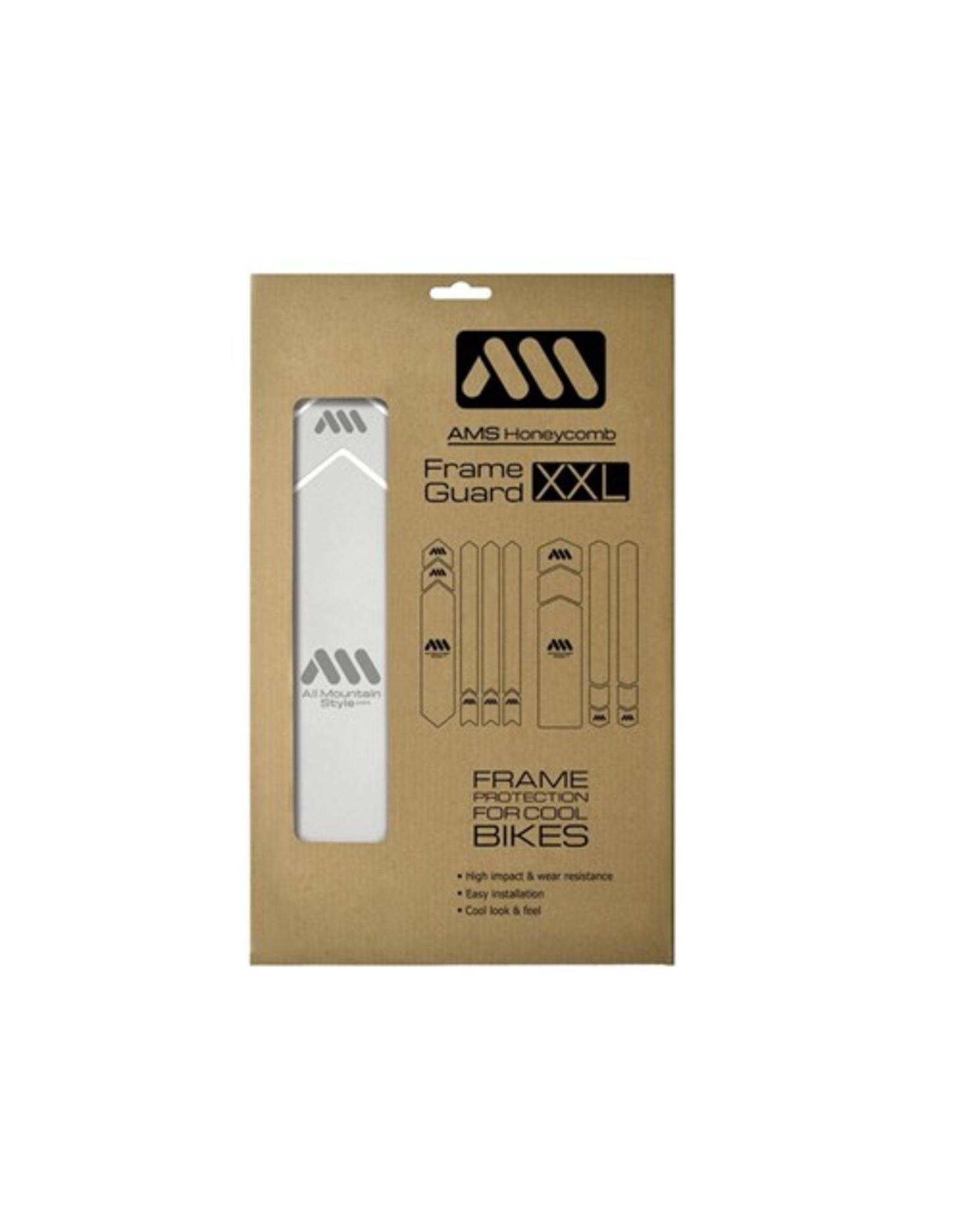 ALL MOUNTAIN STYLE ALL MOUNTAIN STYLE (AMS) FRAME PROTECTION XXL CLEAR / SILVER