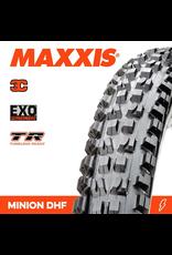 "MAXXIS MAXXIS MINION DHF 24 X 2.40"" TR 3C EXO FOLD 120 TPI TYRE"