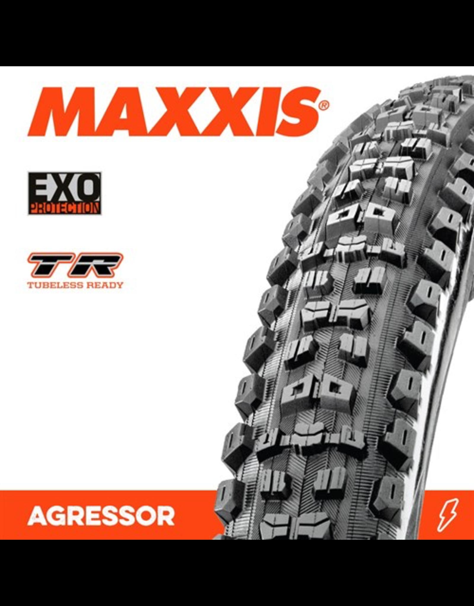 "MAXXIS TYRE MAXXIS AGGRESSOR 27.5 X 2.50"" WT TR EXO FOLD 60TPI"