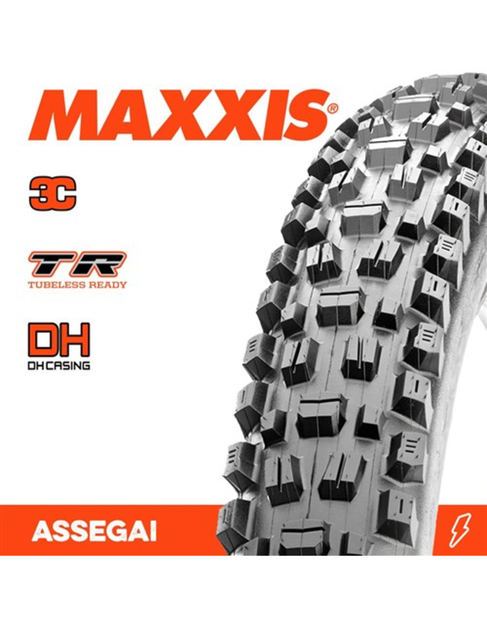 """MAXXIS TYRE MAXXIS ASSEGAI 29 X 2.50"""" WT TR 3C DH FOLD 60X2TPI"""