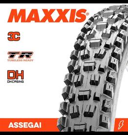 """MAXXIS MAXXIS ASSEGAI 29 X 2.50"""" WT TR 3C MAXX GRIP DH FOLD 60X2TPI TYRE"""