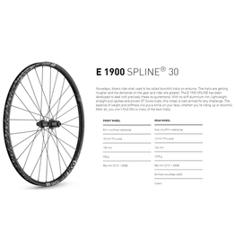 "DT Swiss WHEEL SET DT SWISS E1900 27.5"" 100X15 142X12MM"