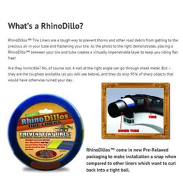 RHINODILLO TYRE LINER RINODILLOS 29 X 2.0-2.125 TAN (CLEAN MOTION) PAIR