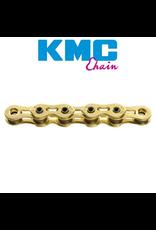 "KMC KMC CHAIN K1SL 1/2X3/32"" SINGLE SPEED 112L GOLD"