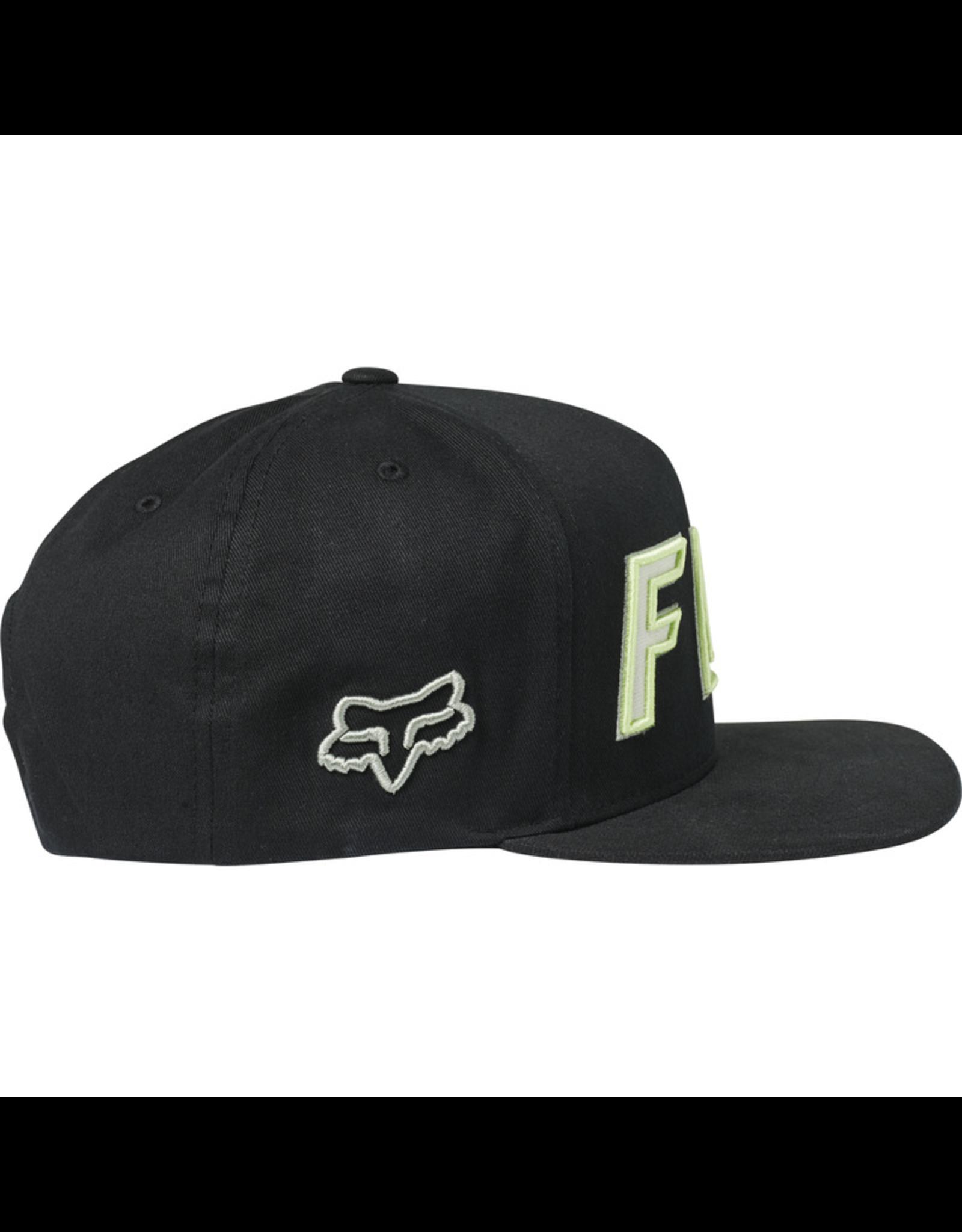 FOX HAT FOX POSSESSED BLACK/GREEN OS SNAPBACK