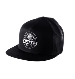 DEITY HAT DEITY PODIUM TRUCKER BLACK OSFA