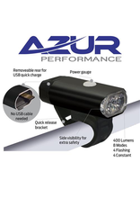 AZUR LIGHT HEAD LIGHT AZUR FUSION 400L LUMENS USB RECHARGABLE ALLOY BODY