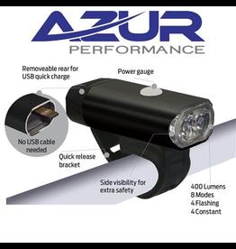 AZUR AZUR FUSION 400L LUMENS HEAD LIGHT USB RECHARGABLE ALLOY BODY