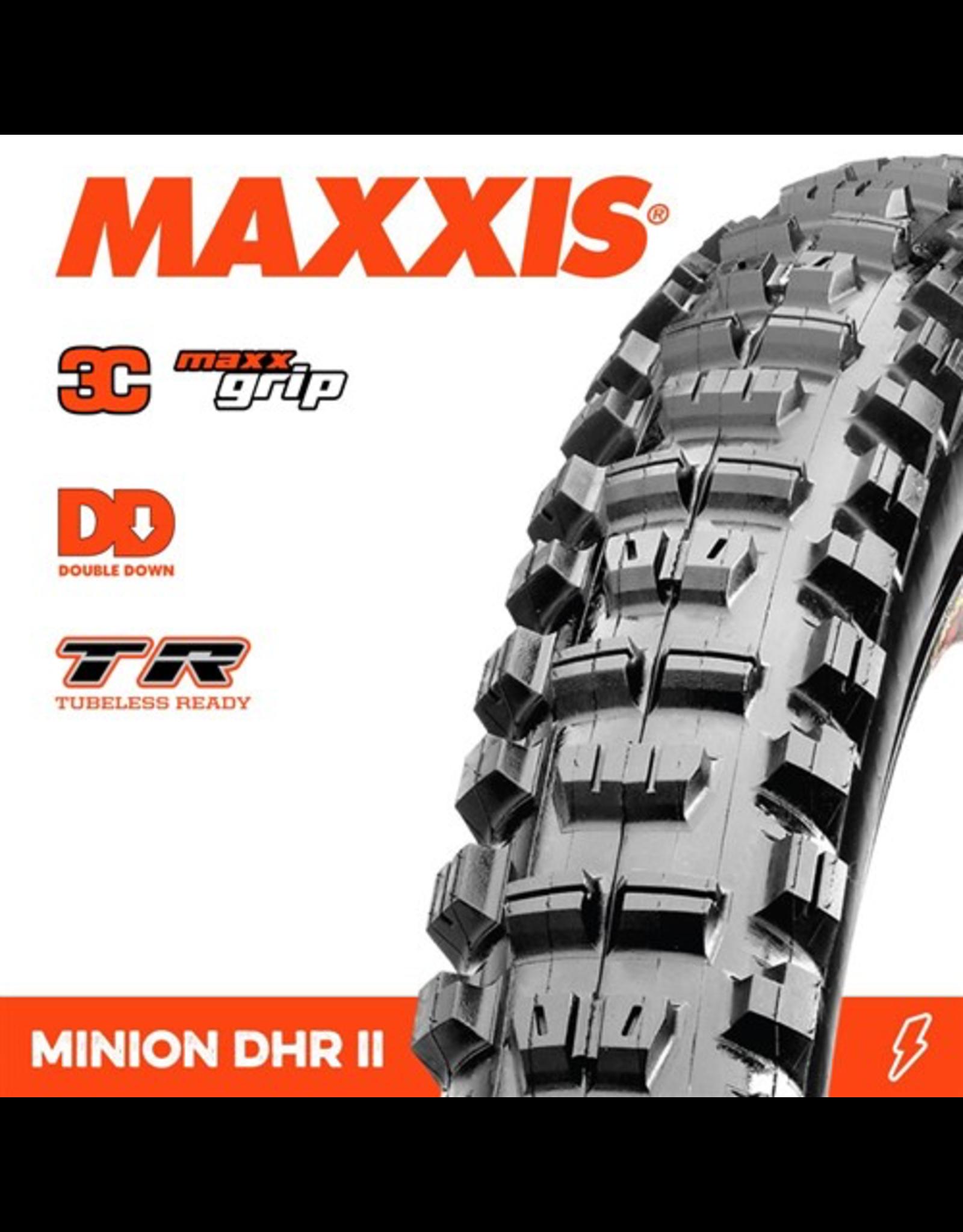 """MAXXIS MAXXIS MINION DHR II 27.5 X 2.40"""" TR WT DD 3C MAXX GRIP FOLD 120X2 TPI TYRE"""