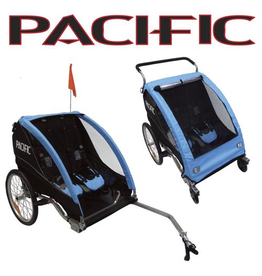 Pacific TRAILER PACIFIC DELUXE 2 In 1 TRAILER/STROLLER - 2 CHILD