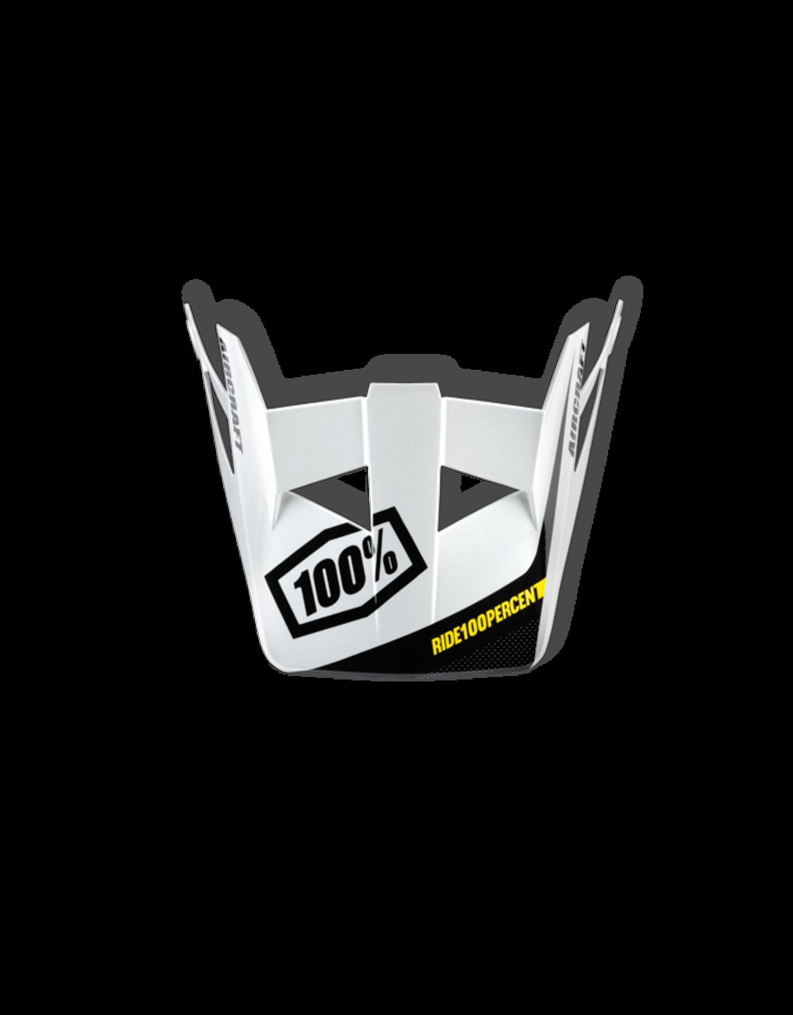 100% 100% AIRCRAFT HELMET VISOR BI-TURBO WHITE