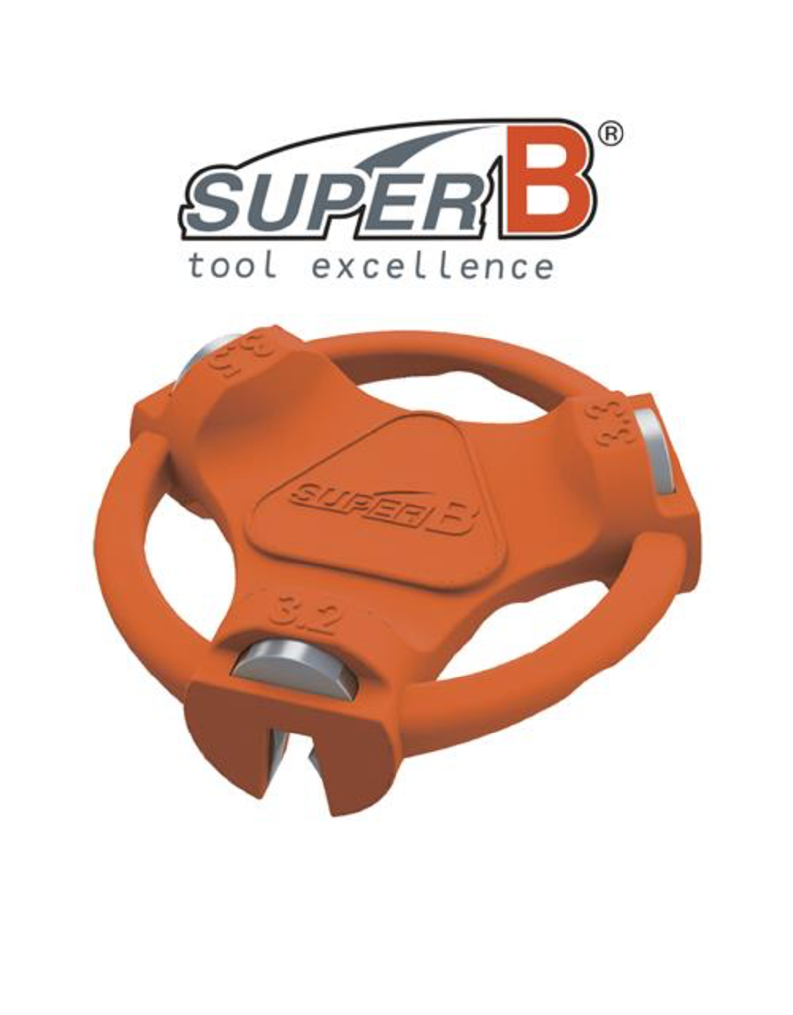 SUPER-B SUPER-B CLASSIC SPOKE WRENCH MULTI 3.2, 3.3 & 3.5MM TOOL