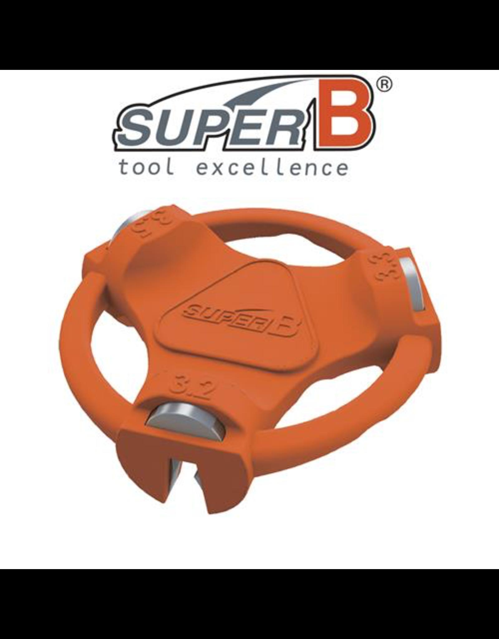 SUPER-B TOOL SUPER-B CLASSIC SPOKE WRENCH MULTI 3.2, 3.3 & 3.5MM