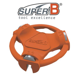 SUPER-B TOOL SUPER-B CLASSIC SPOKE WRENCH MULTI 3.2, 3.3 & 3.5MM