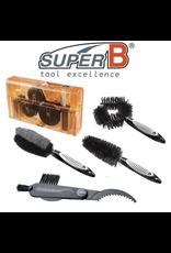 SUPER-B SUPER-B CLASSIC VERSATILE  5 PIECE BRUSH CLEANING KIT