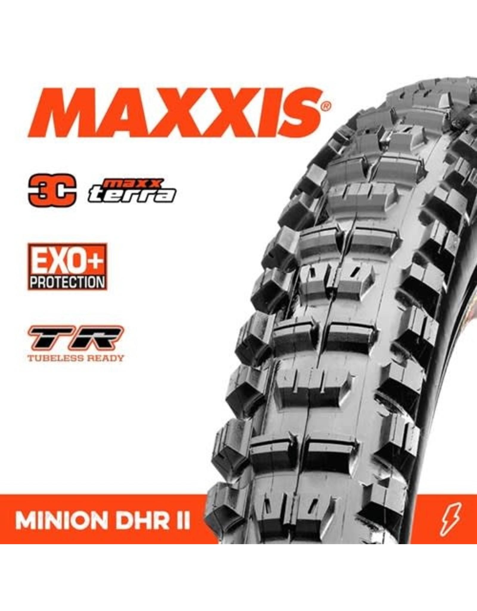 """MAXXIS MAXXIS MINION DHR II 29 X 2.60"""" TR 3C MAXX TERRA EXO+ FOLD 120TPI TYRE"""