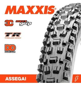 """MAXXIS MAXXIS ASSEGAI 27.5 X 2.50"""" WT TR 3C MAXX GRIP DD FOLD 60X2TPI TYRE"""
