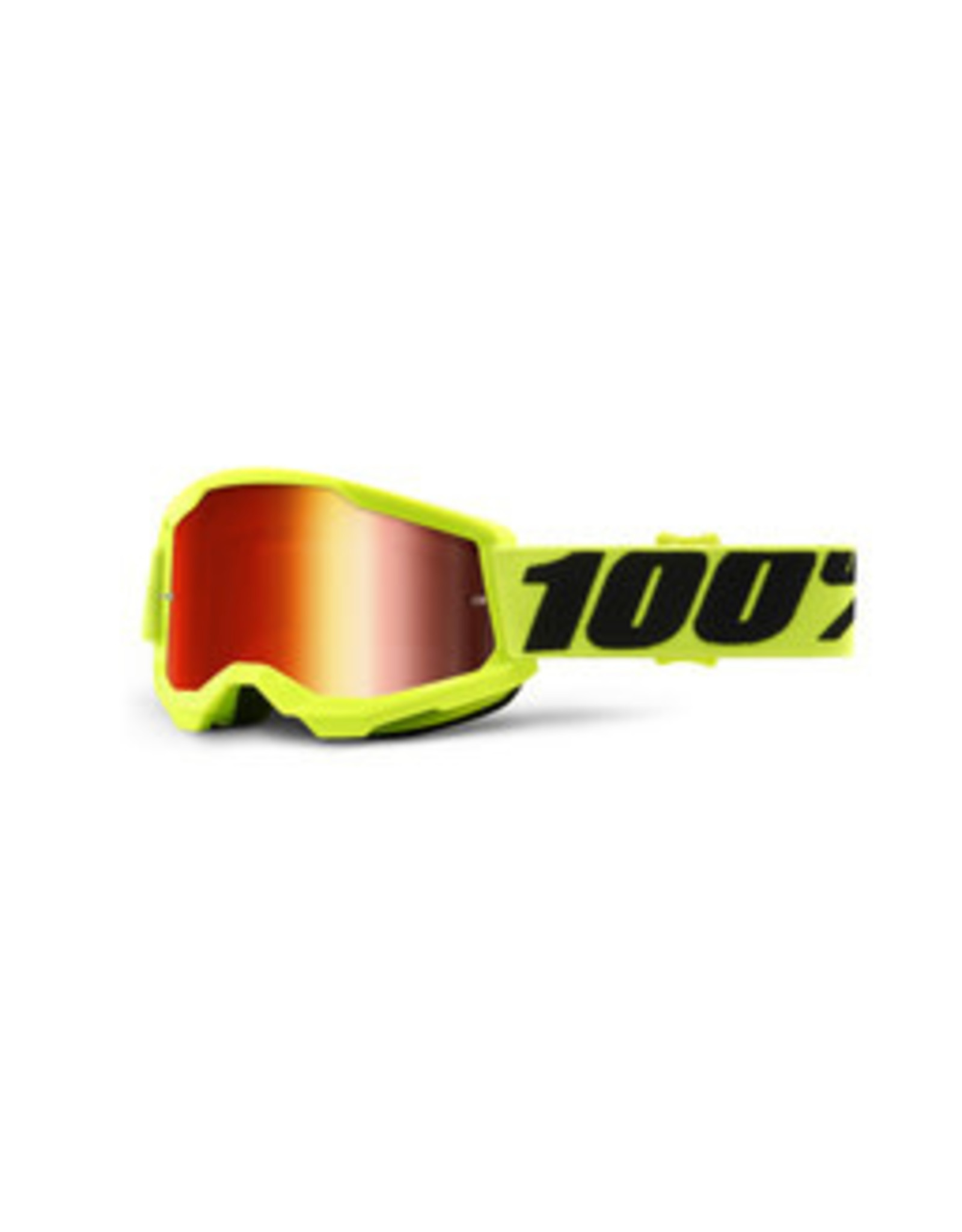 100% 100% YOUTH STRATA 2 MIRROR LENS YELLOW GOGGLES