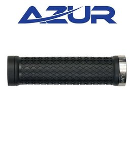 AZUR AZUR ATOM LOCK-ON GRIPS SILVER